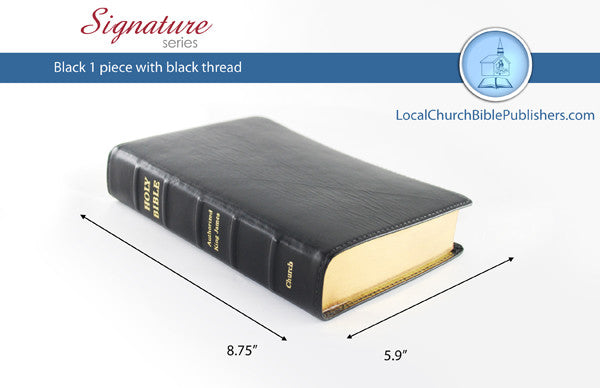 265S1B Hand Size Classic Black 1 Piece (Signature) - Bibles from Heartland Baptist Bookstore