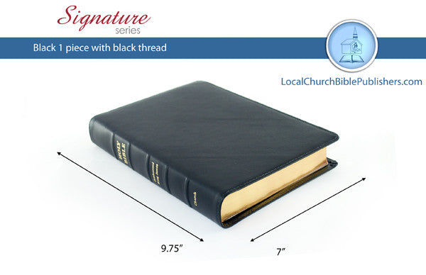 215S1B Mid Size Large Print Black 1 Piece (Signature) - Bibles from Heartland Baptist Bookstore