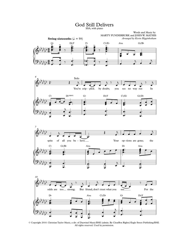 God Still Delivers (Sheet Music)