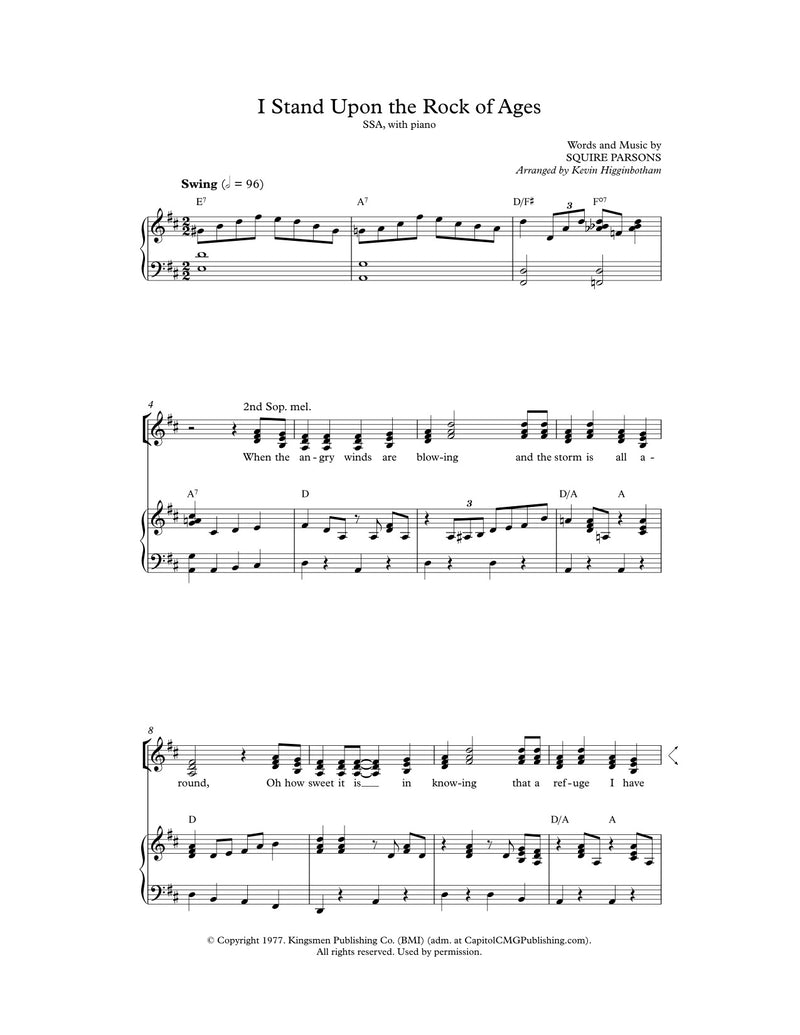 I Stand Upon the Rock of Ages (Sheet Music)