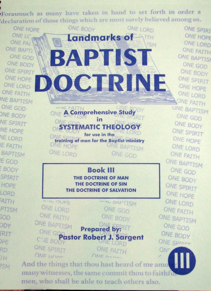 Landmarks of Baptist Doctrine (Book 3)