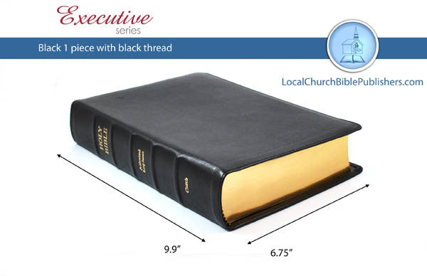 400E1B Mid-Size Notetakers Black Executive Bible