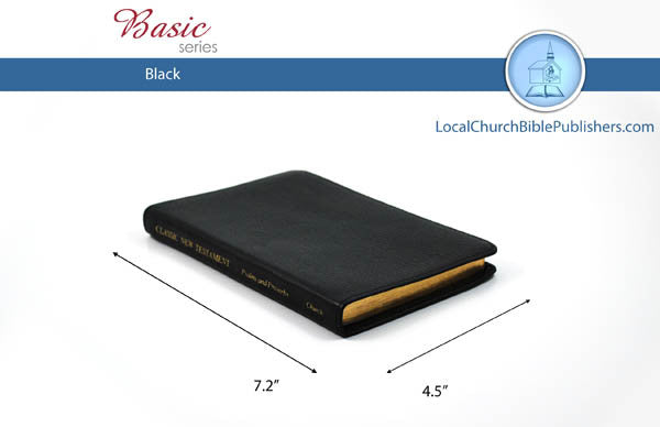410 Classic NT (Black) - Bibles from Heartland Baptist Bookstore