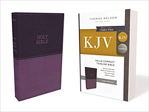 Thomas Nelson KJV Value Compact Thinline Bible, purple