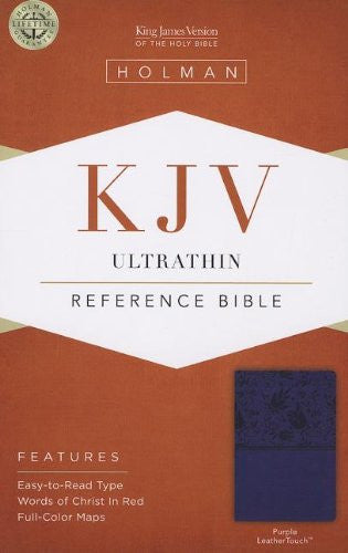 KJV Ultrathin Reference Bible, Purple LeatherTouch
