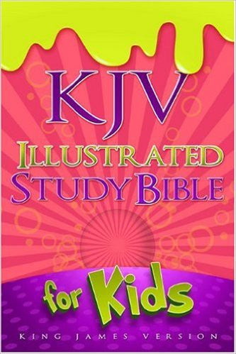 KJV Illustrated Study Bible for Kids, Pink LeatherTouch