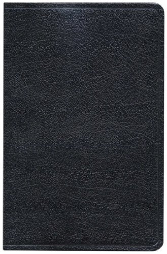 KJV Ultrathin Reference Bible (Black, Bonded Leather)