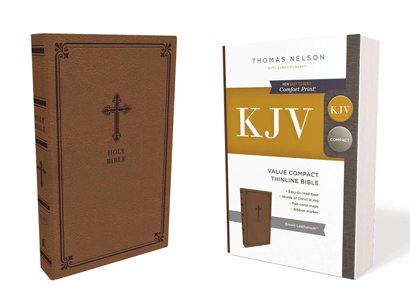 Thomas Nelson KJV Value Compact Thinling Bible, brown