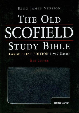 The Old Scofield Study Bible (Large Print Edition) 391RRL, black, Red Letter