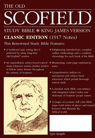 The Old Scofield Study Bible (Classic Edition) 291RL, Red Letter