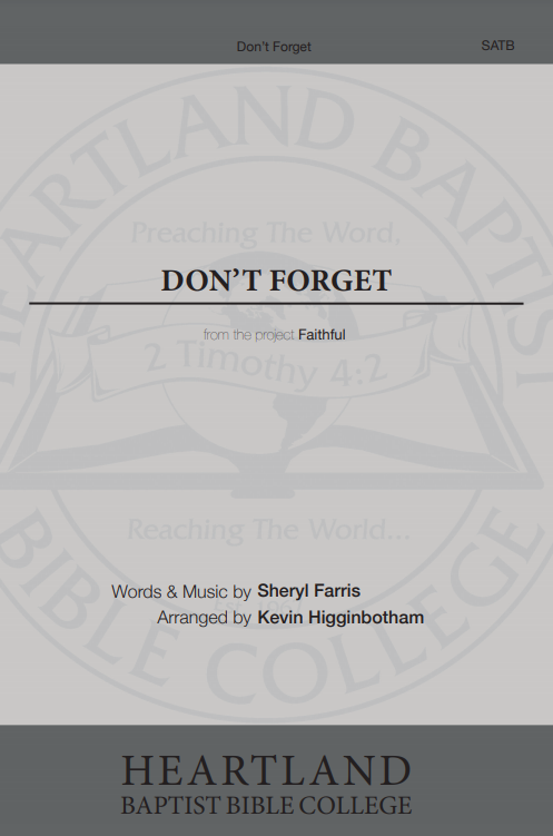 Don't Forget (Sheet Music)