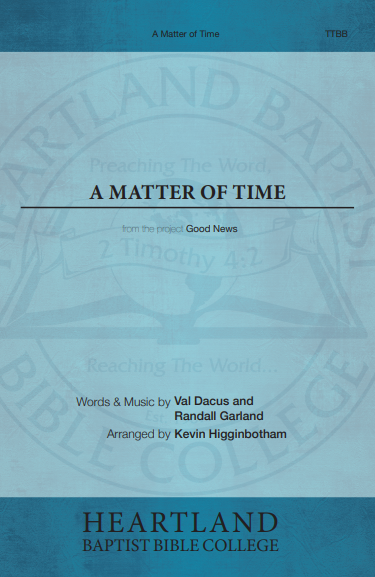 A Matter of Time (Sheet Music)