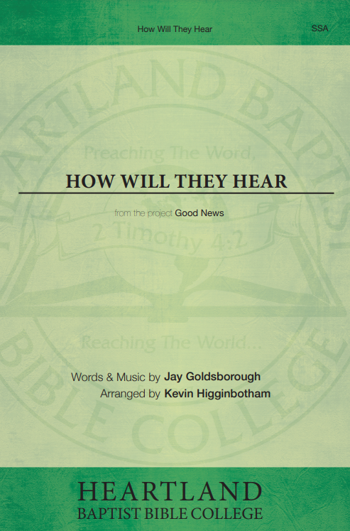 How Will They Hear (Sheet Music)