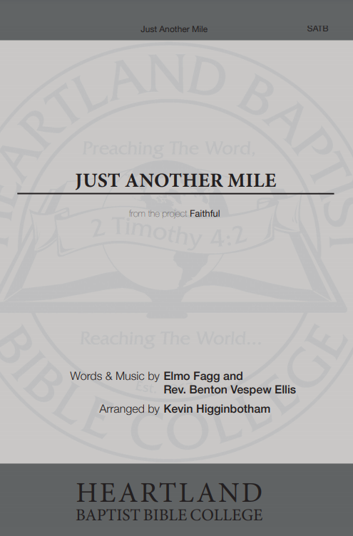 Just Another Mile (Sheet Music)