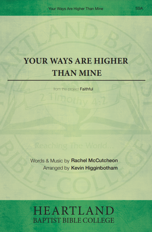 Your Ways Are Higher Than Mine (Sheet Music)
