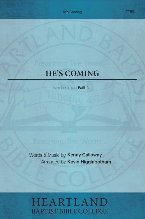 He's Coming (Sheet Music)