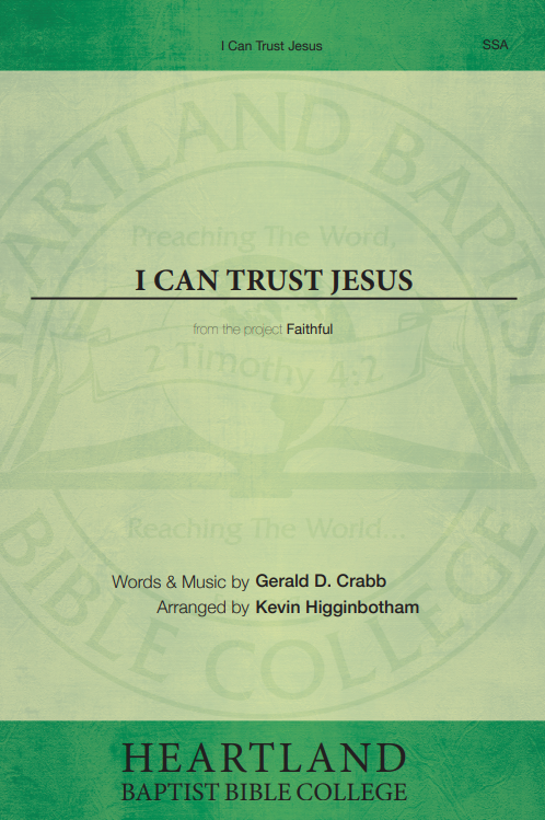I Can Trust Jesus (Sheet Music)