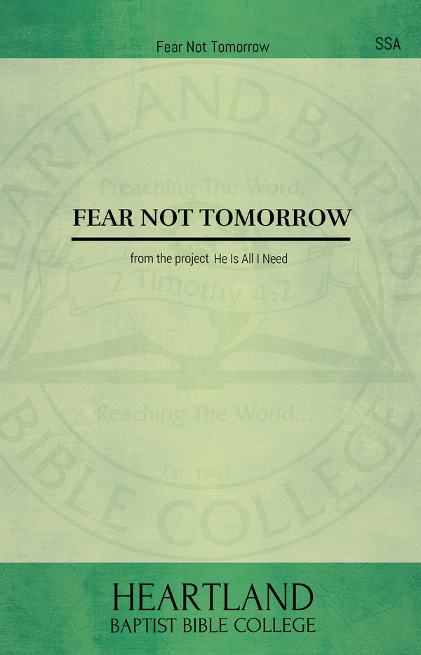 Fear Not Tomorrow (Sheet Music)