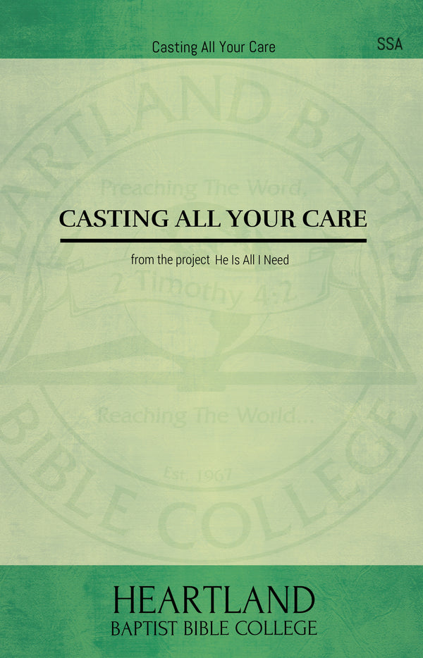 Casting All Your Care (Sheet Music)