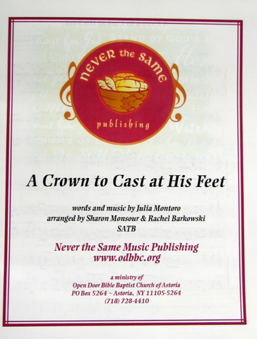 A Crown to Cast at his Feet - Sheet Music from Heartland Baptist Bookstore