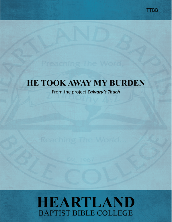 He Took Away My Burden