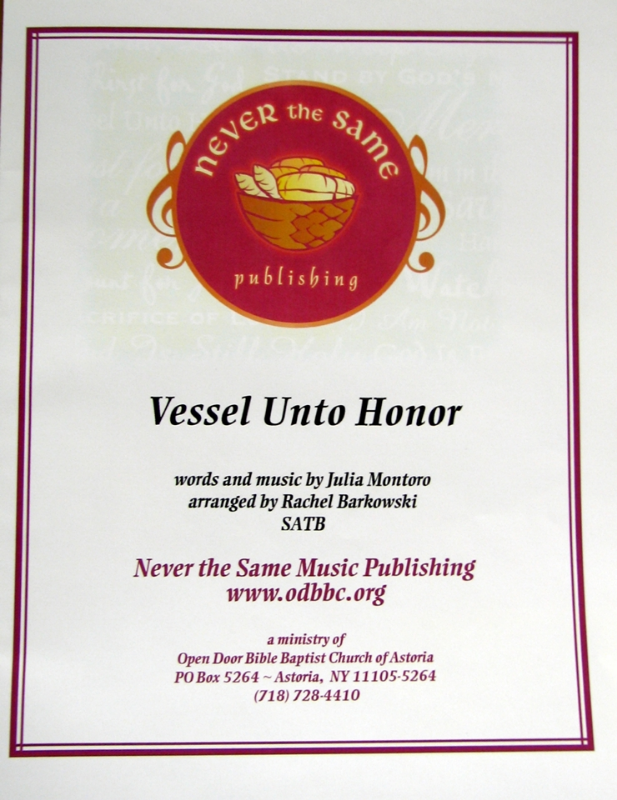 Vessel Unto Honor