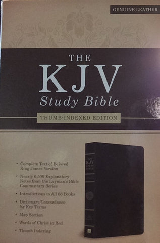 KJV Study Bible, Thumb-Indexed (Dark Brown)