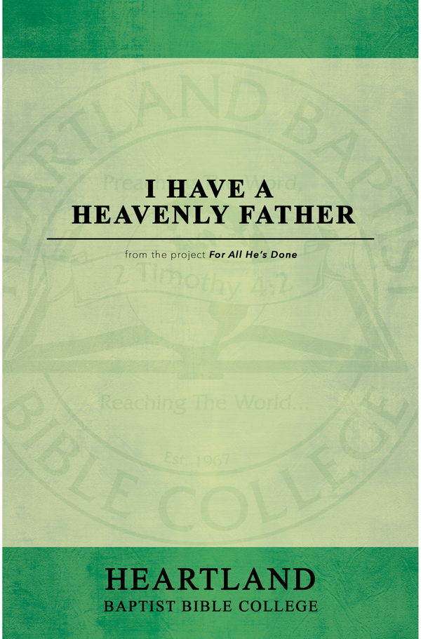 I Have a Heavenly Father Sheet Music