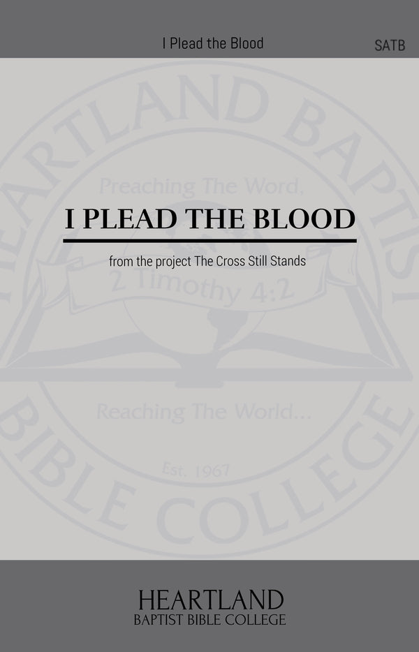 I Plead the Blood (Sheet Music)