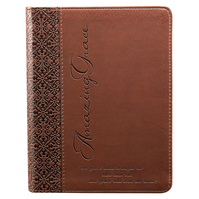 """Amazing Grace"" Flexcover Journal in Brown - Merchandise from Heartland Baptist Bookstore"