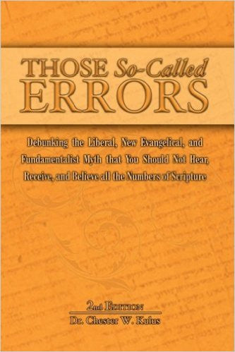 Those So Called Errors, 2nd edition