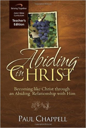 Abiding in Christ Teacher's Ed - Books from Heartland Baptist Bookstore