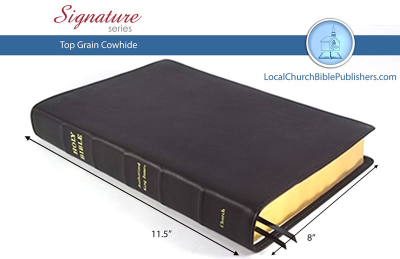 290S1B Large Print Wide Margin Classic Study Bible - Bibles from Heartland Baptist Bookstore
