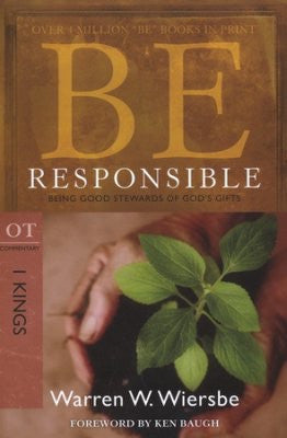 Be Responsible (1 Kings) - Books from Heartland Baptist Bookstore