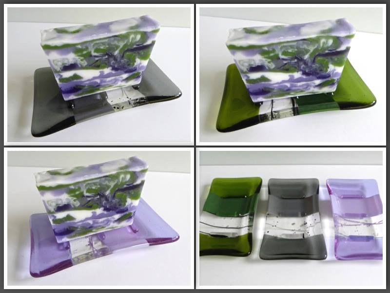 Lavender Chamomile Soap  (+ add on Fused Glass Soap Dish) Gift Set