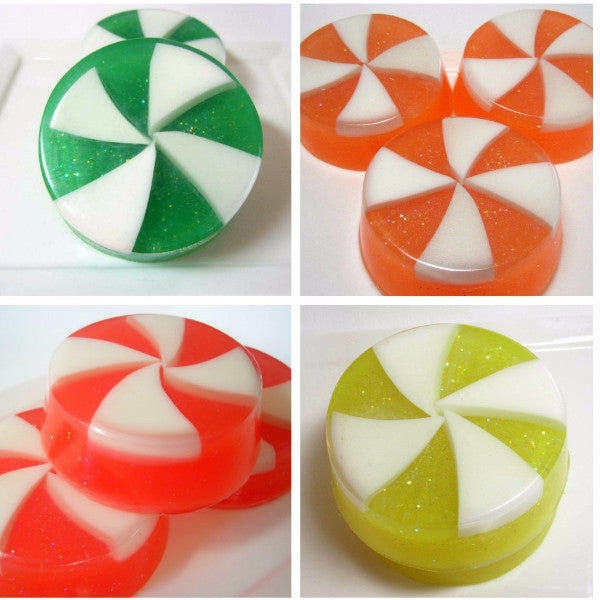 Candy Swirl Soaps -  Made to Order - Set of 8