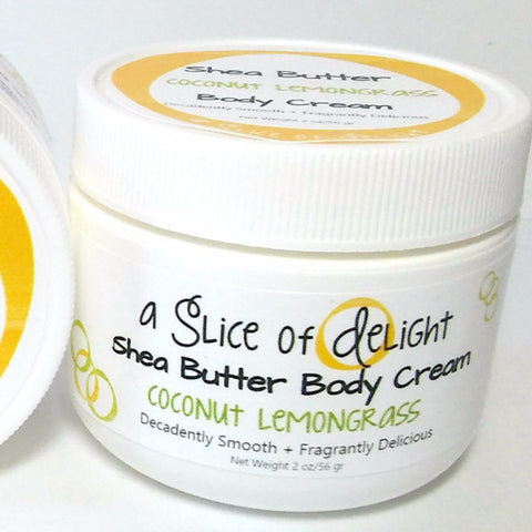 Coconut Lemongrass Shea Butter Body Cream