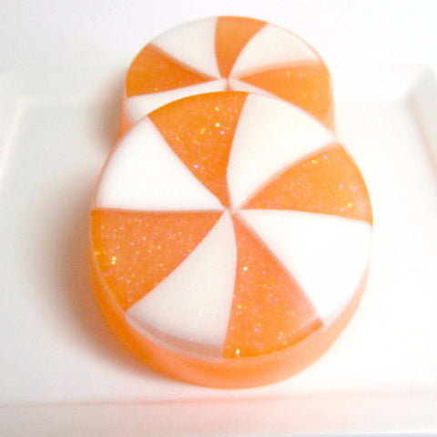 Orange and Vanilla Candy Swirl Soap