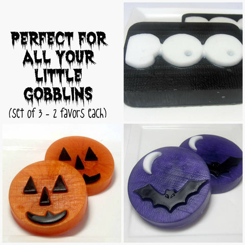 Bat, Ghost and Pumpkin - 6 Soaps - 2 Favors each