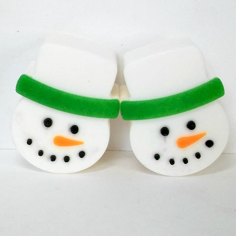 Snowman with Green Brim