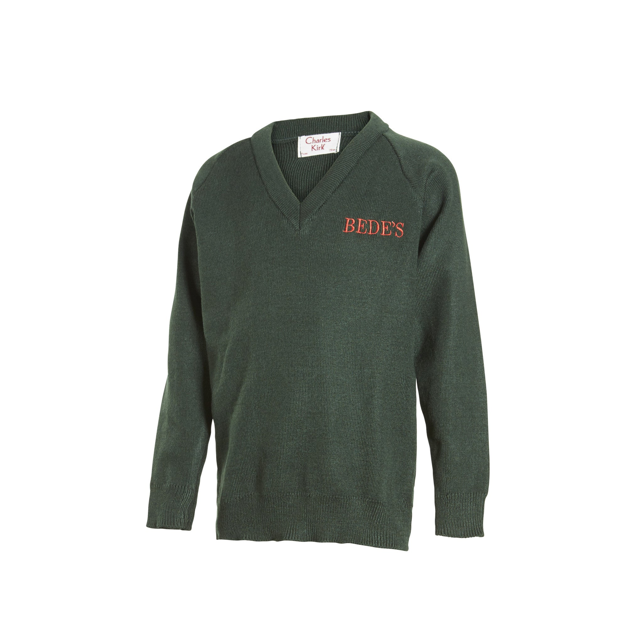 Prep V Neck Green Jumper