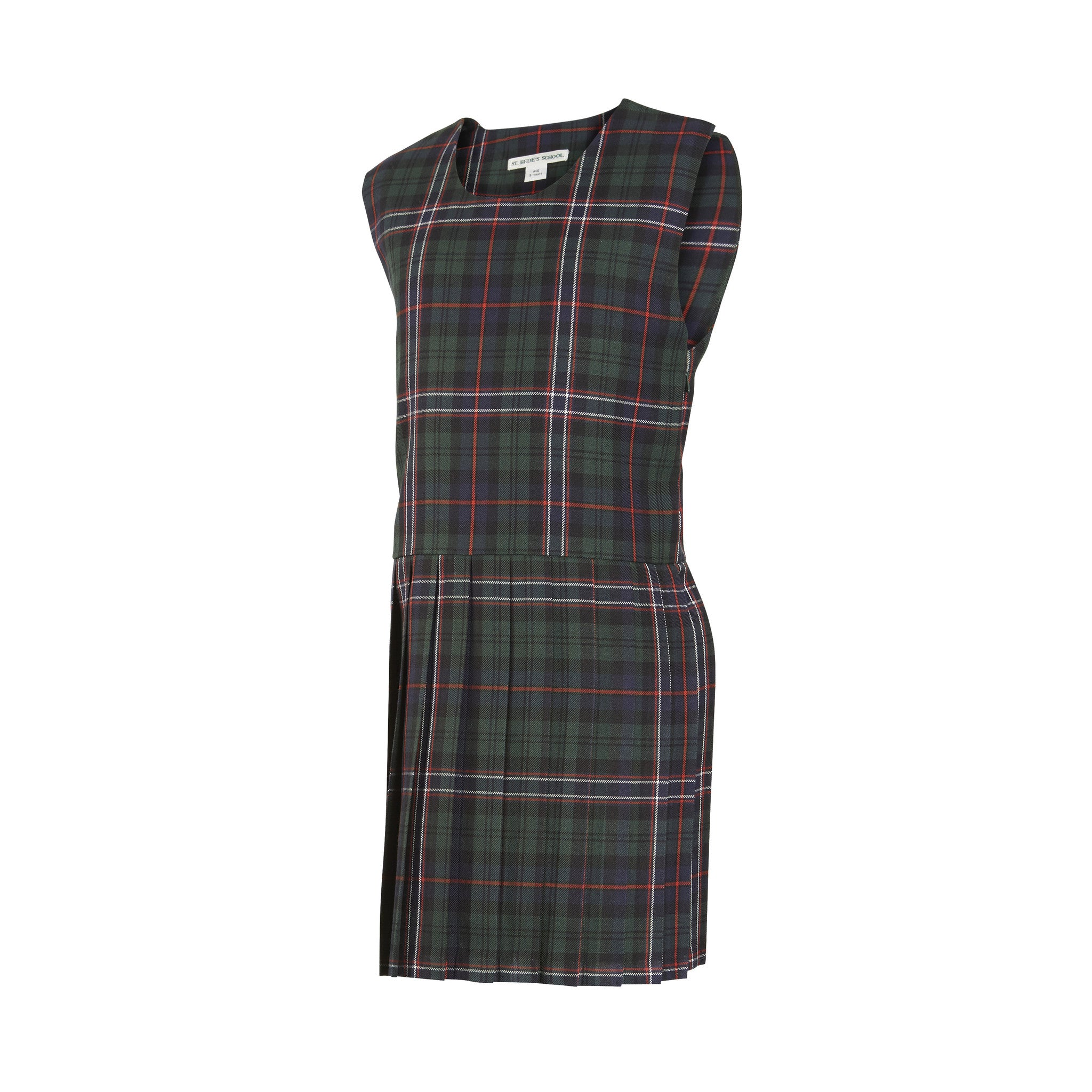 Prep Tartan Pinafore Dress