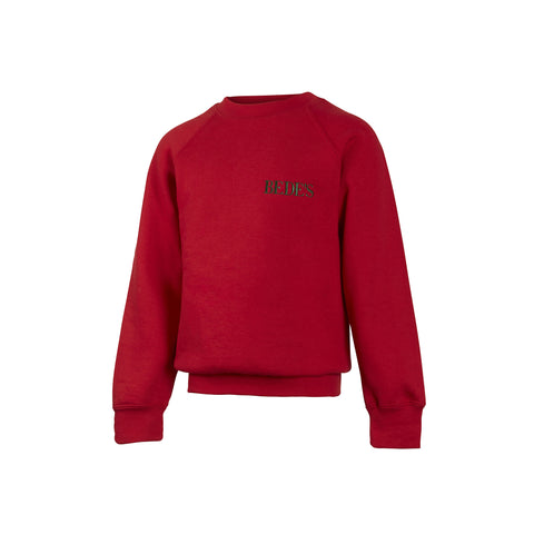 Pre-Prep and Prep Unisex Red Sweatshirt Junior Sizes