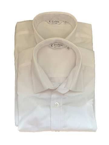 Senior Boys' White Shirts Slimfit Twin Pack