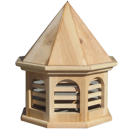 SamsGazebos English Cottage Garden Octagon Wood Cupola 20 Inches