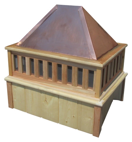 SamsGazebos French Rectangle Cupola with Copper Roof 27 Inches Tall
