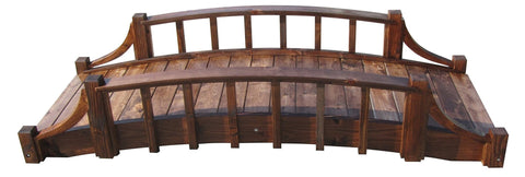SamsGazebos 8-foot French Country Wood Garden Bridge, Treated Brown