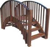 Garden Bridge - SamsGazebos 8-foot Japanese Imperial Wood Garden Stair Bridge, Brown, Treated