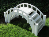Garden Bridge - SamsGazebos Fairy Tale Wood Garden Stair Bridge With Picket Railings, 33-Inch, Unfinished