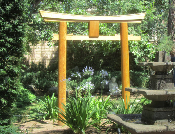 ... SamsGazebos Japanese Shinto Shrine Myojin Style Wooden Torii Garden Gate,  ...